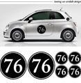 Immagine di una FIAT 500 trattata con car wrapping